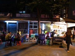 Food stall late at night