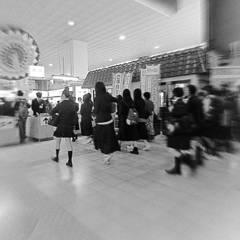 鳥取駅の改札口にて