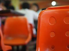 Orange chair (in KKU canteen)