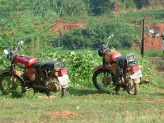 Đà Lạt市の展望台に来たツーリングのバイク?
