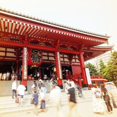 SENSOJI temple in hot summer