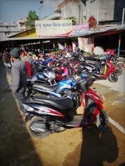 Motercycles in Pokhara