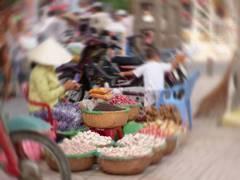 野菜売り(ぐるぐるボケ版)
