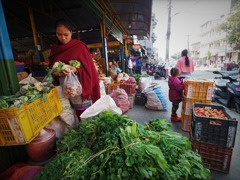 Fresh market in Pokhara