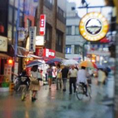 KITASENJU shopping-street in rain