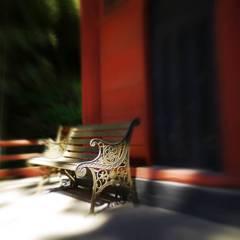 富谷観音(小山寺)のベンチ
