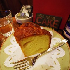 Home made Cake in a cafe