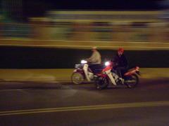 Đà Lạt市を走るベトナムバイク