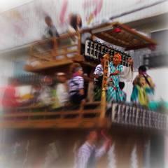 Festival shrine pulled through HOKOTA