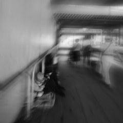 Contrast around TOKYO railway station