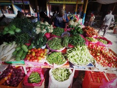 Fresh vegetables in Pokhara