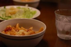 ペンネ&サラダ
