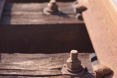 枕木のボルト