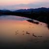 静けさや川鵜飛び立つ水の音