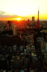 暮れゆく東京
