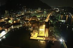 門司港 夜の散策 門司港レトロ展望台