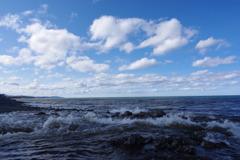 雪解け水と海