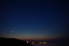 滲んだ夜空
