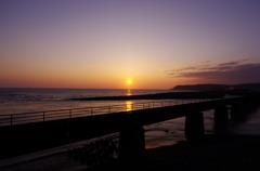 静内の夕日