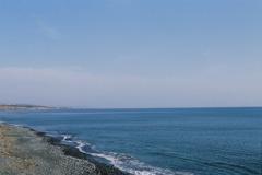 水平線と浜