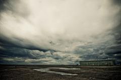 嵐の後の空