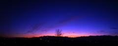 北アルプスの夕景