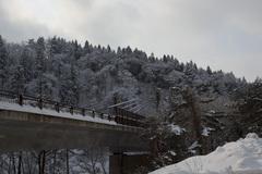 通勤途中にある橋