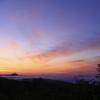 朝焼けに雲海