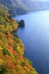 秋の鳥帽子岩
