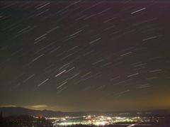 猪苗代町夜景