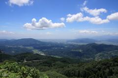 八幡岳からの有明海