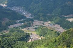 八幡岳から棚田5