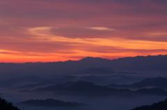 奈良県野迫川村の雲海1