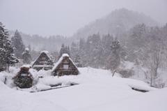 山里の冬 無色の世界