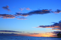 sunset @ waikiki beach