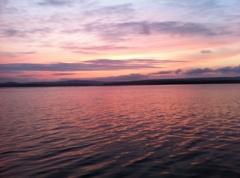 七尾湾の夕焼け小焼け