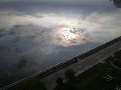 洞爺湖の朝日