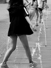 水×子供=・・・靴ビショビショ