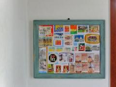 古切手のアート風