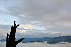 金砂湖上に広がる雲海