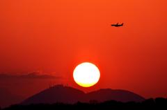 夕焼け空港 1