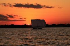 夕日の帆曳き船 Ⅱ