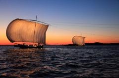 夕日の帆曳き船 Ⅲ