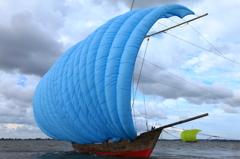 パステルカラーの帆