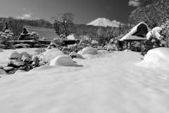 冬の忍野村