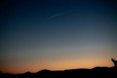 飛行機雲 一番星