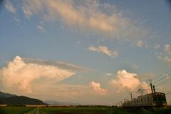 入道雲の夕景