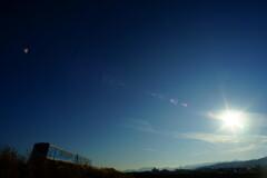 冬晴れの日