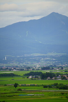 磐梯山と観音様と只見線