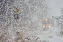 ぼた雪の蚕桑駅